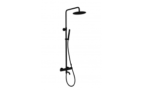 rain shower set with bath spout Cherry, black mat