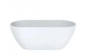 Cast stone bath Iceberg, mat white