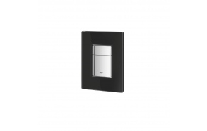 Grohe Skate Cosmopolitan flush plate, black glass