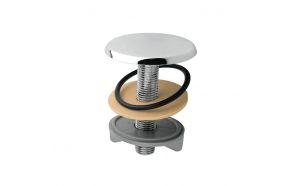 brass faucet cover plug, chrome (max 55 mm)