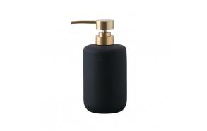 liquid soap dispenser Andrea, mat black + gold