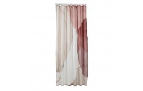 Shower curtain textile 180x200 cm Earth, Dark Pink