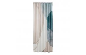 Shower curtain textile 180x200 cm Earth, Dark Green