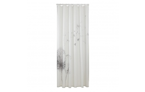Shower curtain textile 180x200 cm Flow, Black/White