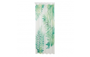 Shower curtain PEVA 180x200 cm Leaves, Green