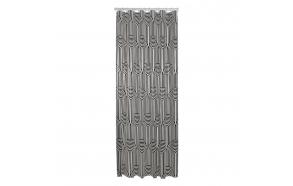 Shower curtain PEVA 180x200 cm Brave, Black/White