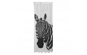 Shower curtain PEVA 180x200 cm Zebra, Black/White