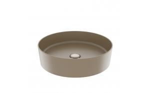round worktop washbasin Loop 45x45 cm mat cappucino