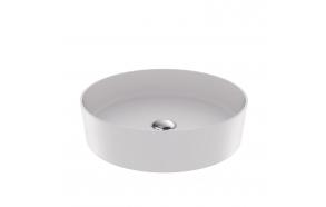 round worktop washbasin Loop 45x45 cm mat white