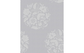 Floral Motif , Grey