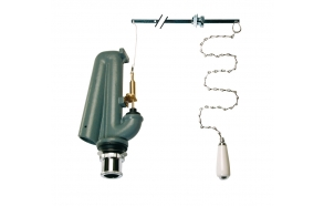 HIGH CISTERN FLUSH VALVE WITH CHAIN AND SIPHON BRONZE
