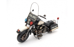 Decoration Police motorcycle, 36x15x24cm