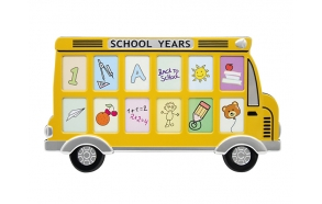 Photo frame x12 Scool bus, alumin
