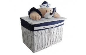 Basket Captain Bear S round d18 x16x16cm