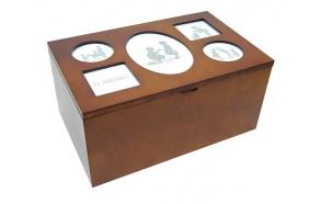 """Puidust karp pildiraamidega """"Trento"""" 38x24x18cm"""