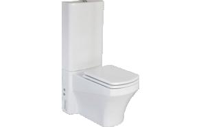 WC kompakt , valge, SORTIE, ilma istmeta
