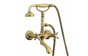 "EXTERNAL BATH SET WITH SHOWER KIT ""OLD FASHION"", OLD BRONZE"
