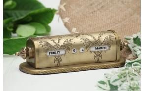 """7""""L Brass Perpetual Calendar, Imported"""
