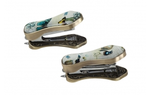 "4-3/4""L Metal & Glass Stapler w/ Butterfly, 2 Styles"