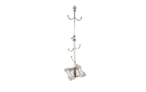 "3-1/2""L x 3-3/4""W x 13""H Metal Jewelry Stand, Imported"