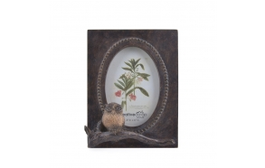 "4"" x 6""  Resin Owl Photo Frame"