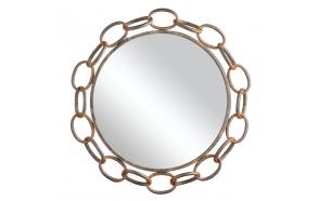 metallist roostevärvi peegel, diam.53cm
