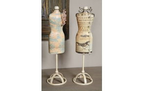 """14-3/4""""H  Resin Vintage Bust Jewelry Holder, 2 Styles ©"""