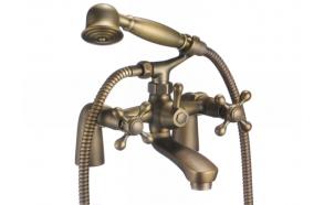 Bath mixer , Retro Eco, old bronze