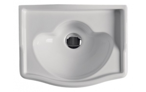 RETRO One hole washbasin 41x32 cm, no faucet hole