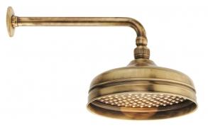 retro shower head 20 cm+30 cm horizontal shower pipe, bronze