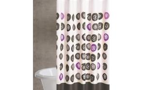 "textile shower curtain ""BAN BLACK"""
