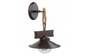 WALL LAMP RUSTIC 1L E27 60W OXIDE, METAL+GLASS