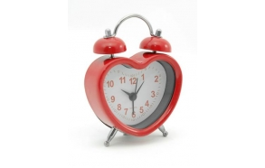 Alarmclock heart only red