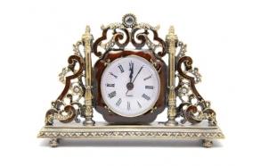 Clock Finx, gold/amber, 17.5x4x13cm