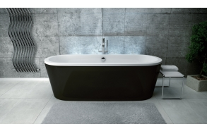 freestanding bath victoria 160 cm (190 l), colored