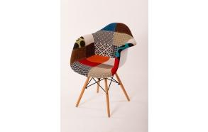 """chair Beata, """"patchwork"""", beech feet"""