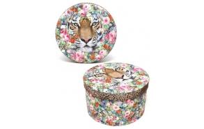 Box Jungle Tiger, round size 1 small (5 sizes/pckg)
