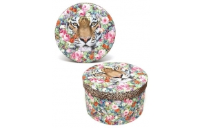 Box Jungle Tiger, round size 2, D23cm