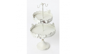 BUTTERFLY 2 TIER JEWELLERY STAND