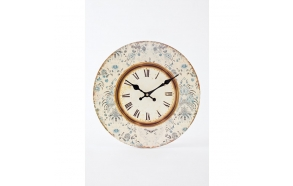SMALL BLUE FLORAL PRINT CLOCK