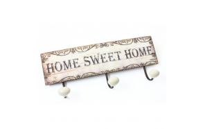 METAL HOME SWEET HOME 3 HOOK