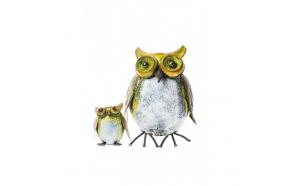 OWL GARDEN BIN WITH SMALL OWL INSIDE