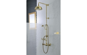 "THERMOSTATIC SHOWER COLUMN"" LONDON"", Ø 200 MM. SHOWER HEADMETAL, ONE SPRAY HANDSET, SOAP DISH"