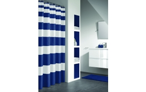 NAUTICA shower curtain textile, blue, 180x200cm