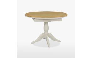 round extending dining table Cromwell 106/145 cm