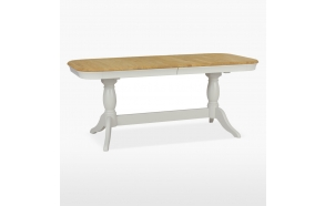 oval extending dining table Cromwell, 2 pedestals 180/230 cm