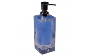 liquid soap dish CRYSTAL BLUE