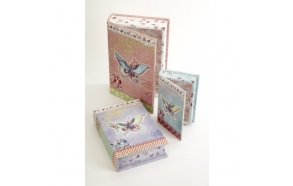 BUTTERFLY BOOK BOXES ,3 sizes