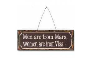 MEN ARE FROM MARS METAL SIGN