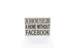 A HOUSE IS NOT LARGE SIGN